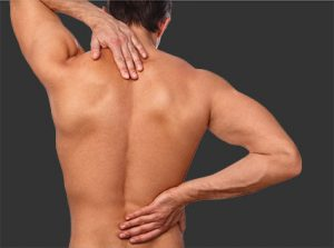 Man with back and neck pain